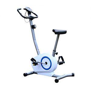Homcom® Fitnessbike Hometrainer Indoorsportbicycle Exercise Bike Fitness 5 Modelle (Weiss/blau)