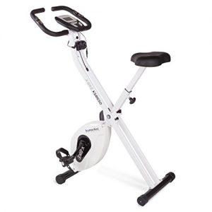 Kinetic Sports Indoor F-Bike Fitnessbike Heimtrainer Ergometer Indoorcycling mit Trainingscomputer, Zusammenklappbar, Weiß