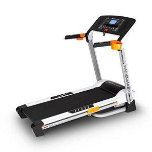 CAPITAL SPORTS Pacemaker X20 Laufband Heimtrainer (4 PS, 16km/h, klappbar, gedämpfte Lauffläche, 16% Steigung, 25 Trainingsprogramme, Trainigscomputer, mit oder ohne Brustgurt) silber