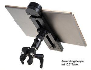 Photecs® Tablethalterung (6 – 27,5 cm) Für Ergometer, Fitnessbike, Hometrainer etc.