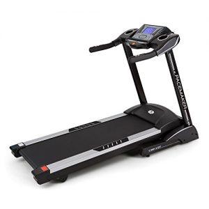 Capital Sports Pacemaker X55 Laufband Heimtrainer (3 PS/6,5 PS, 22 km/h, Trainingscomputer, Pulsmesser, AUX, variabler Steigungswinkel, Bodenrollen) schwarz