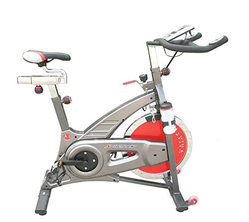 AsVIVA S7 Indoor Cycle Cardio VII Speedbike mit 18kg Schwungscheibe (Filzbremsen und Riemenantireb, inkl. Multifunktionscomputer, sowie Getränkehalter und Trinkflasche, günstig vom Testsieger)