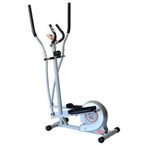 Homcom Fitnessbike Hometrainer Indoorsportbicycle Exercise Bike Fitness 7 Modelle (silber/Crosstrainer)