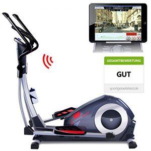 Sportstech CX620 Profi Crosstrainer mit Smartphone App Steuerung + Google Street View, Schwungmasse 21 KG, HRC – Bluetooth – 32 Widerstand Stufen – Heimtrainer Ergometer Ellipsentrainer Stepper