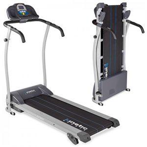 Kinetic Sports Laufband, Leiser 1100 W Elektromotor, mit Trainingscomputer, 2 Getränkehalter, Zusammenklappbar