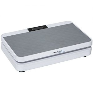 skandika 800 Vibration Plate designstarke Vibrationsplatte mit starkem 200 Watt DC Motor 20 Geschwindigkeitsstufen, mit LC Bildschirm, Fernbedienung und verstellbaren Trainingsgurten, SF-1710