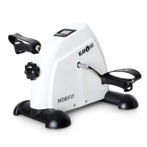 Klarfit 2G Minibike Arm- und Beintrainer Heimtrainer (2kg Schwungmassensystem, stufenlos einstellbarer Widerstand, Trainingscomputer mit LCD-Display, belastbar bis 100kg) weiss