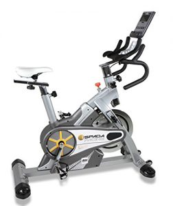 BH Fitness SPADA RACING DUAL + DUAL KIT WH930R Indoorbike Indoorcycling – PolyV-Riemen – 12 Programme – Magnetisches Bremssystem – SPD-Trekking-Pedale