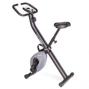 Kinetic Sports Indoor F-Bike Fitnessbike Heimtrainer Ergometer Indoorcycling mit Trainingscomputer, Zusammenklappbar, Grau