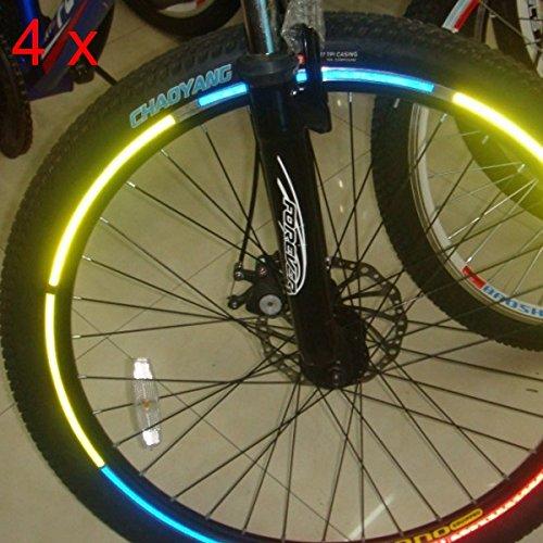 4pcs Felgen Bike Fahrrad Leuchtende Reflektierende Aufkleber