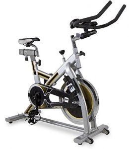 BH Fitness MKT JET BIKE H9158RF Indoorbike / Indoorcycling / PolyV-Riemen / Reibungssystem / 18 kg Schwunggewicht/ Ideal für Anfänger mit dem indoor cycling