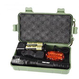 Kaiki Taschenlampe – G700 X800 XM-L2 T6 LED Zoom Taktische Militär Taschenlampe Super Torch Set
