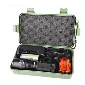 Kaiki Tragbare Taschenlampe – X800 XM-L T6 LED Zoom Taschenlampe Fahrrad Fahrrad Licht Lampe +18650