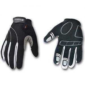 MaMaison007 Outdoor-Unisex Reiten Handschuh Full Finger Fahrrad-Handschuh -M Schwarz & Weiß