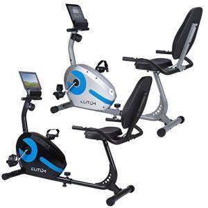 Liegehemitrainer LX300 Sitzheimtrainer Fitnessbike mit Computer Pulssensoren Smartphone Halterung