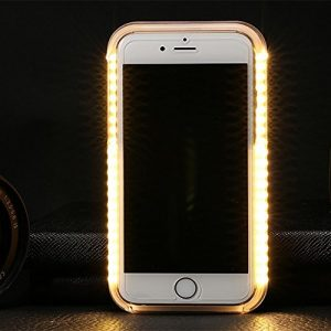 Mamaison007 Blitzlampe Power Bank Led Licht Selfie Cover Case Für Iphone 6 Plus 6 S Plus Apfel 5,5 – Schwarz