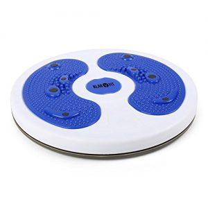 Klarfit myTwist Hüfttrainer Body Twister für Bein- Bauch- Becken- Rückentrainig (mit Fußmassage, 28cm Balance- und Gleichgewichtstrainer, Magnetfeld-Stimulation)