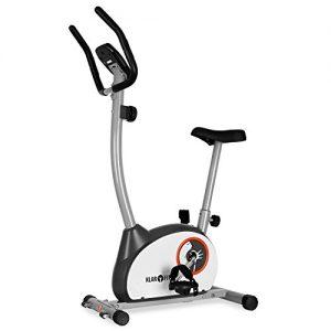 Klarfit MOBI-Basic-10 Fitnessbike Heimtrainer Ergometer (Tretsystem: 4kg Schwungrad mit magnetischem Bremssystem, stufenlos einstellbarer Widerstand, Trainingscomputer mit LCD-Display, belastbar bis 100kg) silber oder weiß
