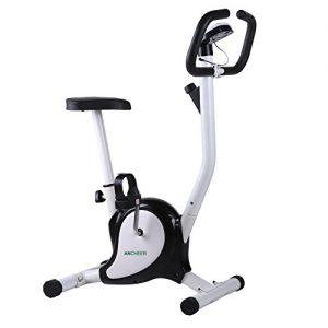 Upright Fitnessbike Fahrradtrainer mit Magnetbremssystem, Fitnessfahrrad für Ausdauertraining, Benutzergewicht max. 110 kg