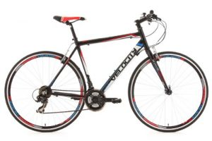 KS Cycling Uni Fahrrad Fitnessbike Alu-rahmen 28 Zoll Velocity 21-gänge RH 59 cm, Schwarz, 28, 125R