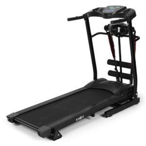 Klarfit Treado Advanced Laufband Heimtrainer (Bandmassagegerät, Sit-up-Bank, Handpulsmesser, Trainingscomputer, zusammenklappbar, platzsparend)