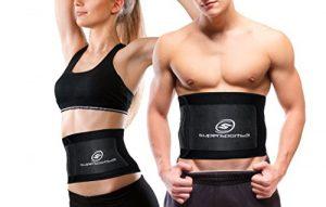 Premium Bauchweggürtel für Mann & Frau + Gratis Tragetasche + Gratis E-Book | NEUER Schwitzgürtel Schnell und Einfach Abnehmen | Bauchgürtel | Premium Qualität Inklusive | Einheitsgröße |