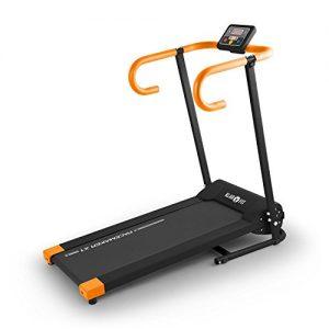 Klarfit Pacemaker X1 Laufband Heimtrainer (500 Watt, 10 km/h, Trainingscomputer, LCD-Display, zusammenklappbar)