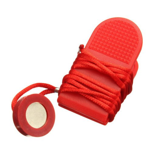 Laufband Magnetschalter Schluessel - SODIAL(R) Lauf Machine Sicherheitsschluessel Laufband Magnetschalter Schluessel Fitness Rot