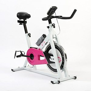 Fitness Spinning Bike 7003 Indoor Cycling Heimtrainer mit Flaschenhalter Kettengetriebe LCD Bildschirm 48 x 117 x 106 cm