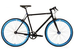 KS Cycling Fahrrad Fixie Fitnessbike 28″ Pegado schwarz-blau RH 59 cm KS Cycling, schwarz, 28, 102R