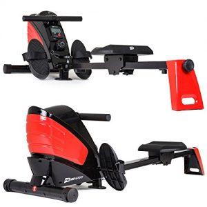 Hop-Sport Rudergerät HS-060R Ruderzugmaschine mit Computer klappbar magnetisch Rot
