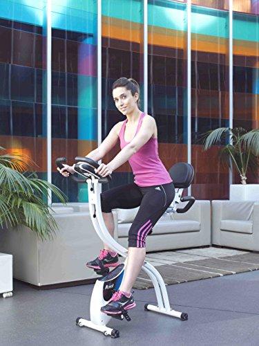 ION Fitness AXEL FI022 klappbarer heimtrainer - fitnessbike mit rückenlehne - 10 kg schwungmasse - magnetisches bremssytem - transporträder