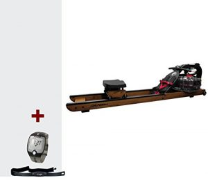Life Fitness Wasser Rudergerät Row HX. Hochwertig und klappbar für Zuhause inkl. FT1 Polar Pulsuhr