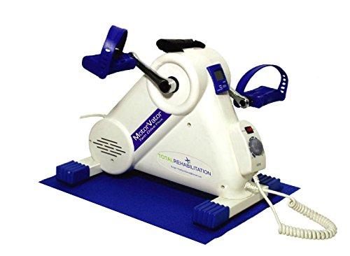 NEU 2016 - MotorVator Twin Drive Plus - von Total Rehabilitation - Motorisierter Mini-Heimtrainer - Einfaches, geräuscharmes Workout auf jedem Stuhl - Trainingsmaschine zur Stärkung der Arm- und Beinmuskeln & Bänder, Linderung von Gelenksschmerzen, Verbesserung der Gelenkigkeit & Förderung der Durchblutung - LCD-Display & Geschwindigkeitskontrolle für sanftes Training - Pedaltrainer der höchsten Qualität - Einfacher Transport, leichtes Design - Vormontiert für zu Hause oder in Kliniken.