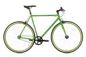 KS Cycling Fahrrad Fixie Fitnessbike Flip Flop Singlespeed RH 53 cm, Grün, 28, 110R