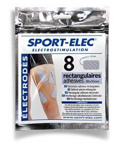 SPORT-ELEC Erwachsene Rechteckige Elektroden 8, 3528070000364