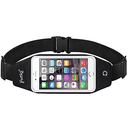 Laufbänder Hüfttasche, BRIGHT Sport Hüfttasche Übungsband Fitness Tasche Universeller Sport Bund Mit Reflektierendem Reißverschluss Entwurf / Transparentes mit Berührungseingabe Bildschirmfenster / Kopfhöreranschluss Passend für iPhone 7 Plus / 7 / 6S Plus / 6 Plus, Samsung Galaxy S7 Edge / S7 / S6 Edge / S6 und Mehr
