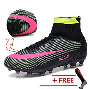 BOLOG Größe EU39-46 Fußballschuhe AG Spike Microfaser Cleats Beruf Athletics High Top(fußballschuhe mit socken)