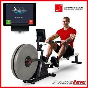 Sportstech Rudergeräte RX500 RX600 mit Smartphone steuerbar – Fitness App mit Trainingsergebnis – 16 Programme – Magnetwiderstand bzw Luft- und Magnetwiderstand – Widerstandsstufen – Wettkampfmodus – Pulsgurt kompatibel – klappbar