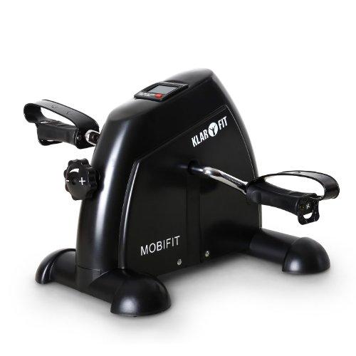 Klarfit 2G Minibike Arm- und Beintrainer Heimtrainer (2kg Schwungmassensystem, stufenlos einstellbarer Widerstand, Trainingscomputer mit LCD-Display, belastbar bis 100kg) schwarz, weiß oder schwarz-orange