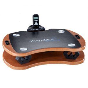 skandika Home Vibration Plate 300, robuste Heim Vibrationsplatte in Holzoptik mit leistungsstarkem DireDirectDrive-Antriebssystem und kraftvollen 3D Vibrationen, braun/schwarz