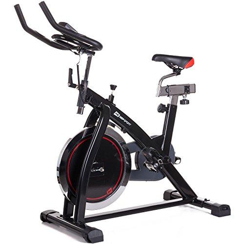 Hop-Sport Indoor Cycle HS-065IC Indoorcycling Speedbike Schwungrad 18 kg Pulsmessung Transportrollen belastbar bis 120 kg