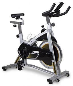 BH Fitness J-BIKE H9135RF indoor cycle / Indoor cycling / Indoor bike / PolyV-Riemen / 16 kg Schwunggewicht/ Ideal für Anfänger mit dem indoor cycling