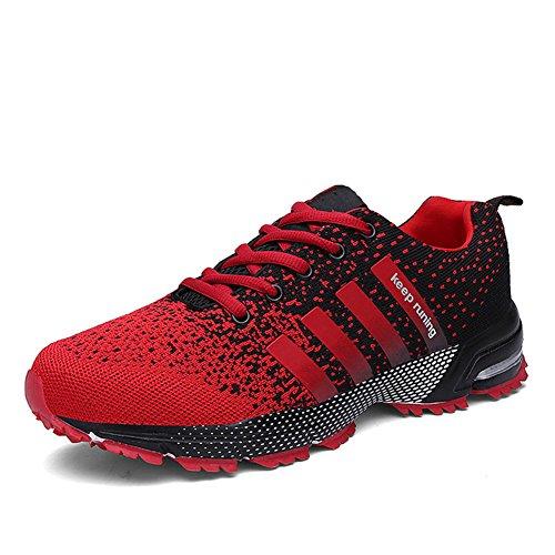 Laufschuhe Herren Damen Leicht Wanderschuhe Gute Qualität Sneaker Schwarz Rot Grün Blau 36-46