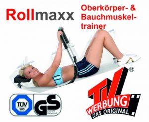 B-WARE!! – Rollmaxx Bauchtrainer – Achtung Vor dem Kauf unbedingt die Bilder und Beschreibung beachten!! Bauchmuskeltrainer Crunch Fitness Muskeltrainer Roll Maxx Geschenk Marke Crane (Aldi) von SchwabMarken, 1 Stück