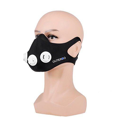 OUTERDO Sport Mask Atemmaske Fitness Masken Für Elevation-Mask 2.0 Anaerobem Training Höhentraining M