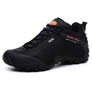 Herren Outdoor wasserabweisende Trekking Schuhe Wanderschuhe atmungsaktiv bequem 81283 Schwarz