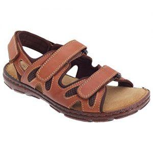 Roamers Herren 3 Touch Komfort Leder Sandalen
