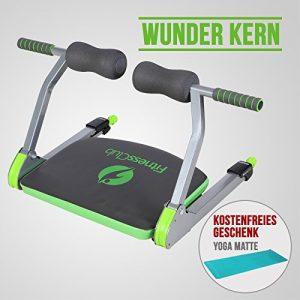 UEnjoy Bauchtrainer Rückentrainer mit Yoga Matte Smart Fitnessgerät ABS Training Wonder Core Muskeltrainer