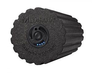 Medisana PowerRoll Pro Faszienrolle mit Tiefenvibration, 4 Intensitätsstufen, Inkl. Trainings-DVD und Trainingsplan